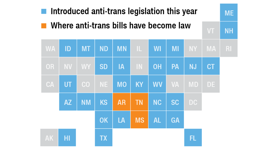 This record-breaking year for anti-transgender legislation would affect minors the most - CNN