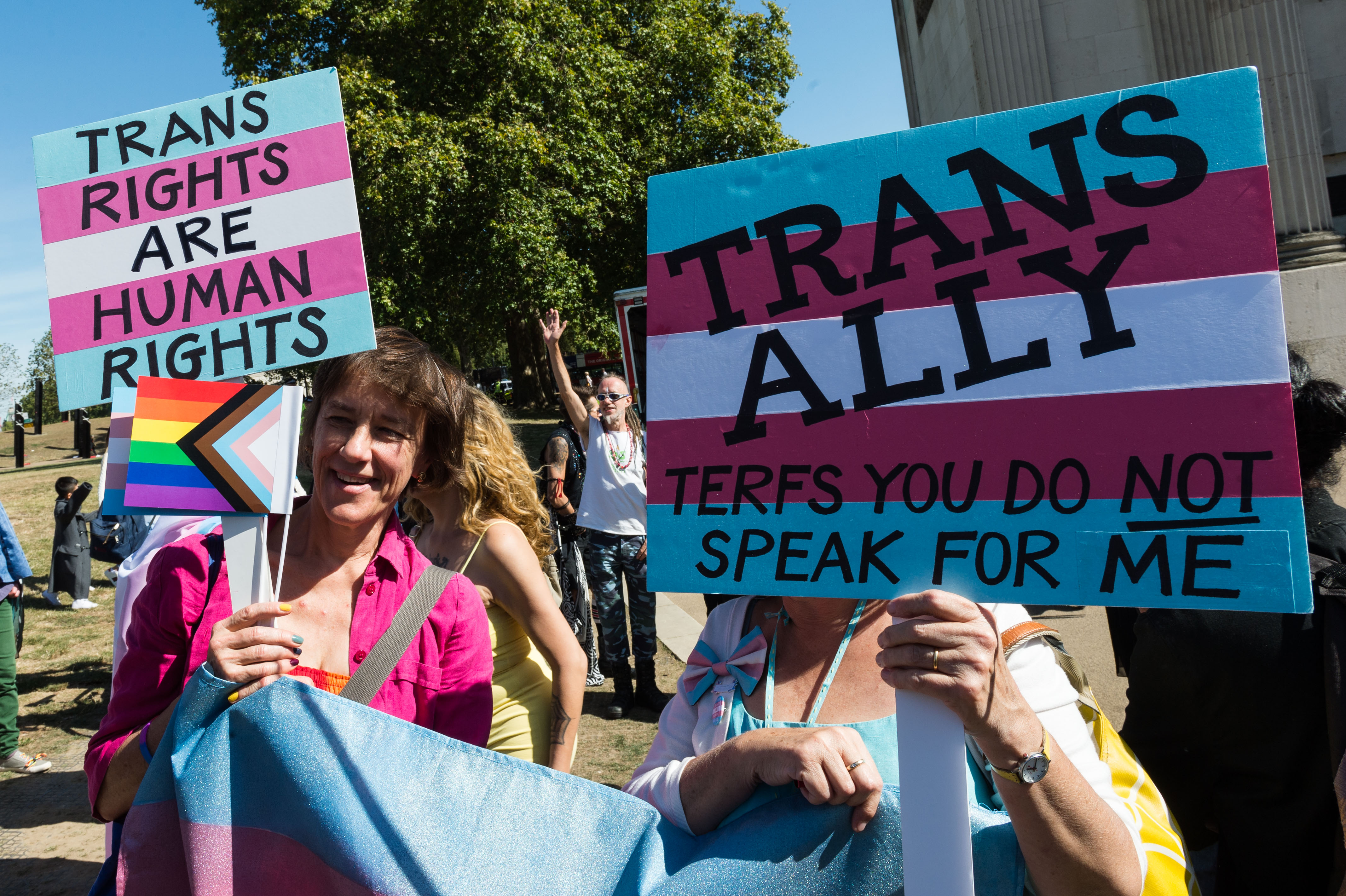 Young non-binary person throws down gauntlet for cis allies to 'risk their comfort and stand up for trans rights'
